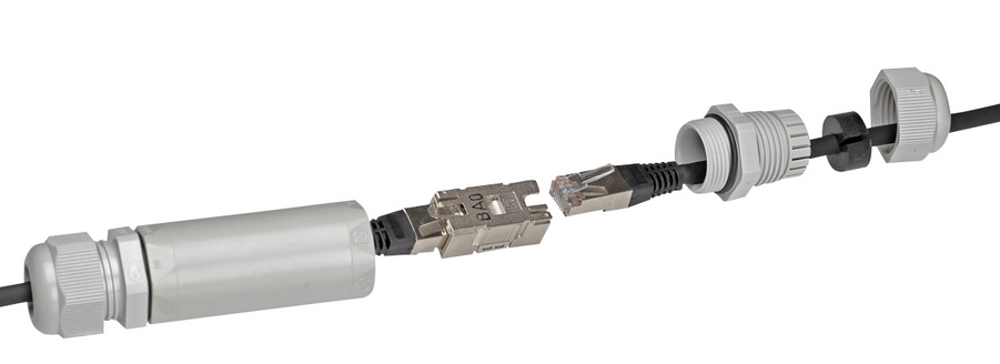 NETWORK CABLE COUPLER IP66